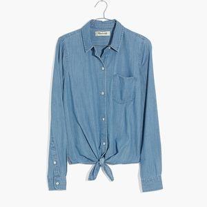 Madewell Denim Tie-Front Shirt